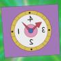 三分之一時鐘貼紙(三分の一時間ペタンコ)