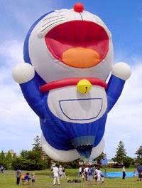 哆啦A夢熱氣球 飄揚日本佐九節