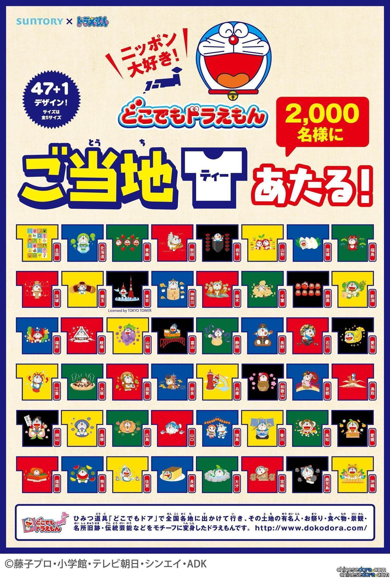 [日本] 地方特色與哆啦A夢結合! 買飲料送「到處都是哆啦A夢T恤」