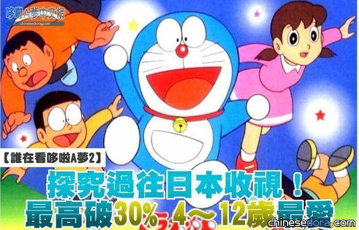 【誰在看哆啦A夢2】探究過往日本收視!最高紀錄破30% 4~12歲最愛看