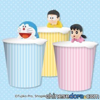 [日本] 6款哆啦A夢角色系列杯緣子系列景品陸續登場!還可以壓在杯麵蓋上旁邊幫你泡麵