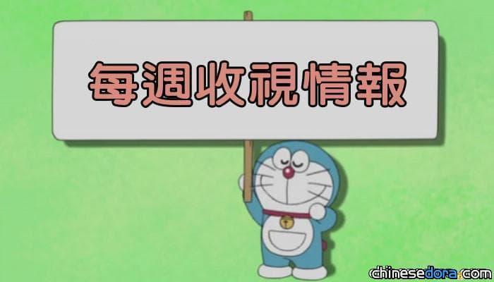 【每週收視】日本7/11《哆啦A夢》3.8% 台灣7/6-7/10《新哆啦A夢》低於0.87%